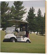 Golfing Golf Cart 01 Wood Print