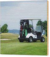 Golfing Golf Cart 03 Wood Print