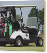 Golfing Golf Cart 05 Wood Print