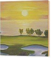 Golfing Heaven Wood Print