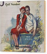 Golfing: Magazine Cover Wood Print