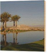 Golfing Oasis Wood Print