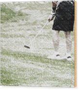 Golfing Putting The Ball 01 Pa Wood Print