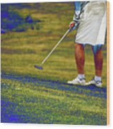 Golfing Putting The Ball 02 Pa Wood Print