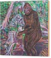 Goliath - The Bigfoot Of Ash Swamp Road Wood Print