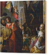 Daniel And Cyrus Before The Idol Bel Wood Print
