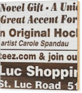 Golteez  Celebrates Carole Spandau Original Hockey Paintings Wood Print