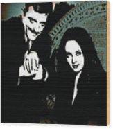 Gomez And Morticia Addams Wood Print