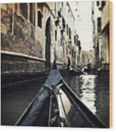 gondola - Venice Wood Print by Joana Kruse