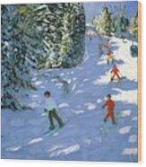 Gondola Austrian Alps Wood Print