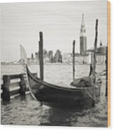 Gondola In Bacino S.marco S Wood Print