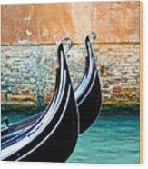Gondola In Venice 1 Wood Print