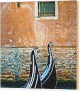 Gondola In Venice 2 Wood Print