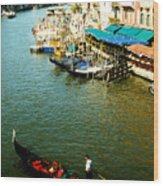 Gondola In Venice Italy Wood Print