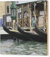 Gondola Pier Wood Print