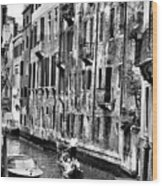 Gondola Ride In Venice Wood Print