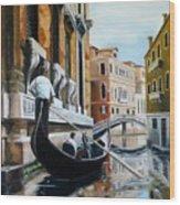 Gondola Ride On Venice Italy Canal Wood Print