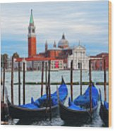 Gondola Station  On Grand Canal Wood Print