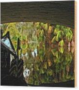 Gondola Under A Bridge Wood Print