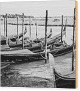 Gondolas By St Mark's Wood Print