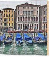 Gondolas Galore Wood Print