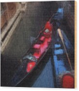 Gondolas Wood Print