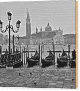 Gondolas Of San Marco Square Wood Print