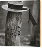 Gondolier Hat Wood Print