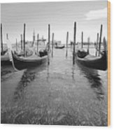 Gondolier In The Distance Wood Print