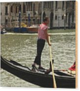Gondolier With Matching Socks Wood Print