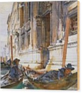 Gondoliers Siesta 1904 Wood Print