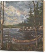 Gone Ashore Wood Print