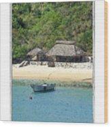 Gone Coastal Wood Print