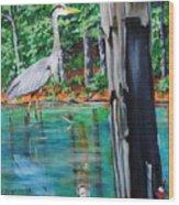 Gone Fishin Wood Print