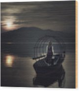 Gone Fishing Wood Print by Joana Kruse