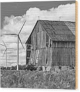 Gone With The Wind 3 Bw Wood Print