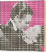 Gone With The Wind - Pink Wood Print