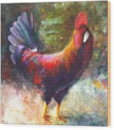 Gonzalez The Rooster Wood Print by Talya Johnson