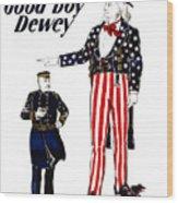 Good Boy Dewey Wood Print