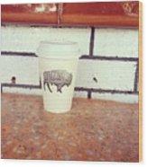 Good Coffee Wood Print