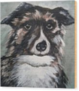 Good Dog By Christine Lites Wood Print