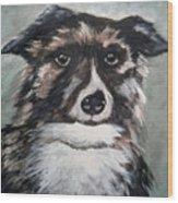 Good Dog By Christine Lites Wood Print