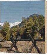 Good Fences Make Good Neighbors .... Robert Frost Wood Print