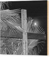 Good  Friday  In  Black  And  White Wood Print