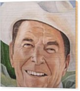 Good Guys Wear White Hats Wood Print