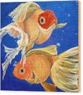 Good Luck Goldfish Wood Print