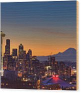 Good Morning From Kerry Park Wood Print