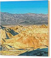 Good Morning From Zabriskie Point Wood Print