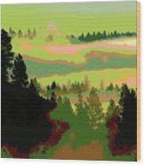 Good Morning In Spokane Wood Print