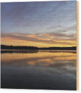 Good Morning Lake Springfield Wood Print